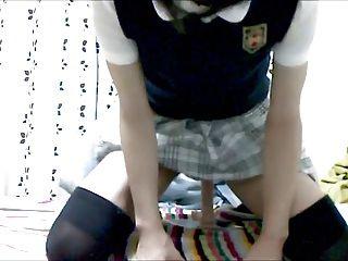 可愛的學校女孩