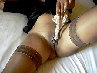 性感的腿在絲襪和高跟鞋