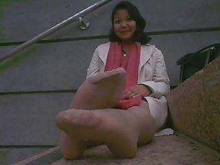 亞洲成熟臭腳下班後