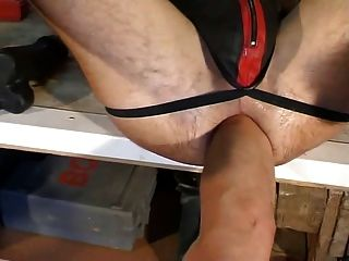 假陽具,puno y pies por el culo拳頭