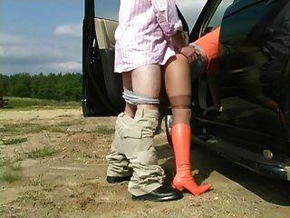 室外連褲襪性愛場面