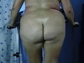 bbw對接赤裸的脂肪屁股跑步機鍛煉negrofloripa