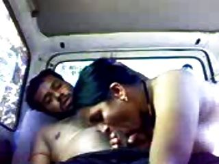 印地安夫婦在汽車(非職業)