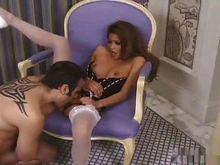 性感亞洲魅力星星性高跟鞋和絲襪