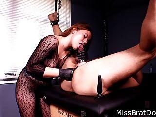 前列腺按摩綁定奴隸由女性錯過變態