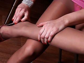 性感的腿在連褲襪