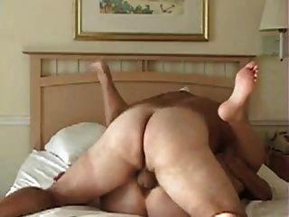 胖子夫婦在一個良好的干淨他媽的,非常有角