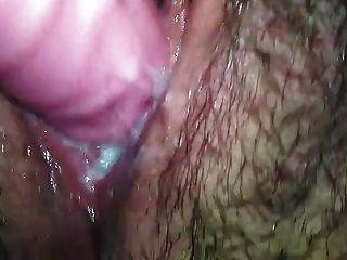 關閉長毛的陰道creaming