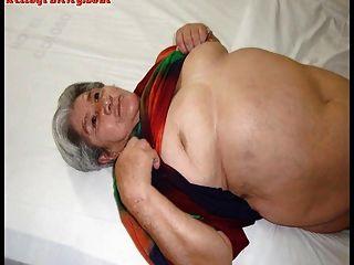 有大胸部和大屁股的老拉提納業餘奶奶