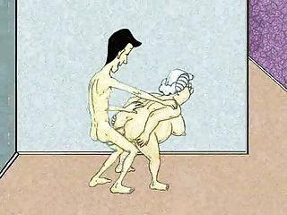 性感肛門奶奶和噴!動畫!