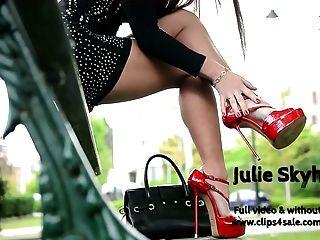 最好的朱莉skyhigh高跟鞋,迷你裙掛鉤公共