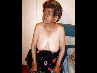 角質墨西哥奶奶和她驚人的赤裸的身體