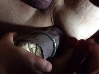 情婦的假陽具和拳拳sissy pussy
