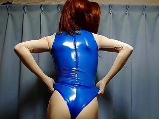 與藍色橡膠游泳衣part2的kigurumi