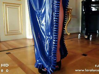 藍色乳膠禮服