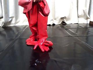 日本乳膠catsuit 81
