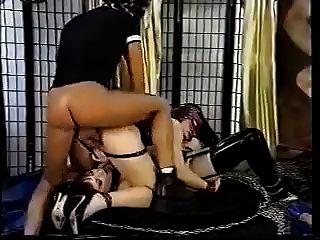 熱的性別視頻與鐵桿乳膠