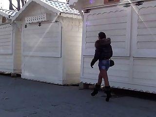 julieskyhigh在巴黎热宝贝公共高跟鞋靴子