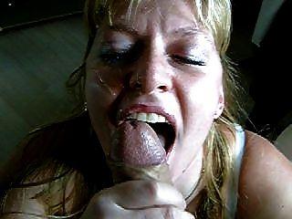 吸吮面部,当她吮吸吞咽