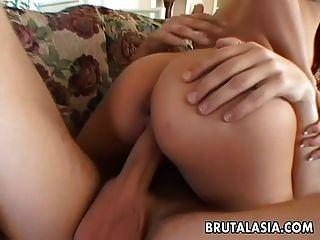 热的和角质的泰国bit子被她的男人搞砸了