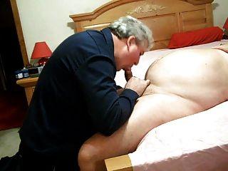 胖爸爸吮吸