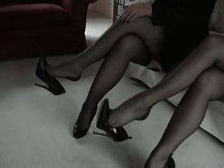 尼龙高跟鞋