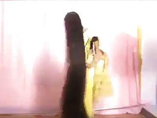 性感的长的印度头发