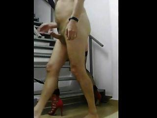 老板他的cd奴隶在楼梯上他妈的