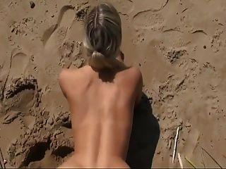 在海滩热的性感