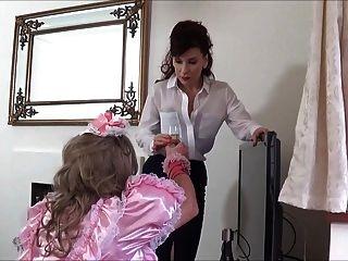 女士c公鸡拍打粉红色sissy angeliica