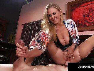 超大热辣妹朱莉娅·安·酷刑和滥用她的奴隶男孩!