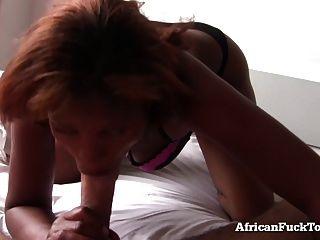 早上与真正的非洲女孩性交!