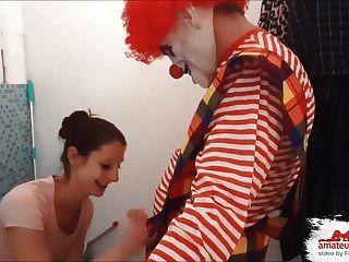 野蛮...!!! fieser恐怖小丑,benutzt mich als anales fi