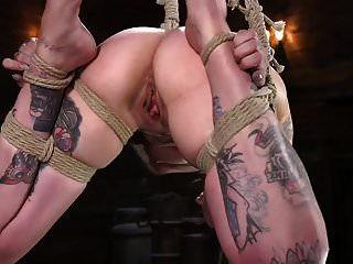 微小的纹身ed痛苦的妓女krysta kaos在绳索中折磨