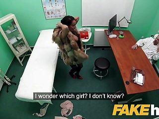 假医院性感的毛皮衣服患者想要他妈的好