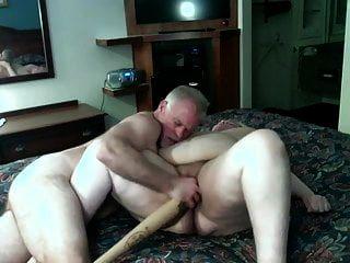业余bbw成熟得到拳击性交用棒球棒