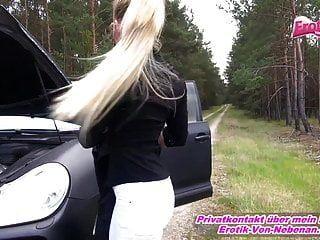 在车祸中利用德国婊子必须他妈的户外